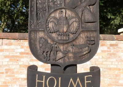 Holme Village sign on Church Street