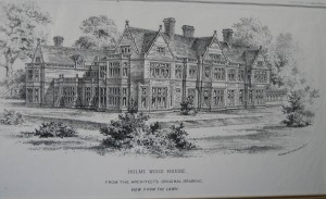 Architects drawing of the alterations to Holmewood House for William Wells in 1873.